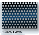perforated sheet, hole size 2mm, pitch 3mm