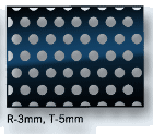 Perforated sheet hole size 3mm, pitch 5mm