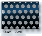 Perforated sheet hole size 4mm, pitch 6mm